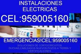 ELECTRICISTA SOLUCIONES ELECTRICAS AREQUIPA.CORTOCIRCUITOS,CABLEADOS,DUCHAS,POZOS A TIERRA,CEL.9590051,60