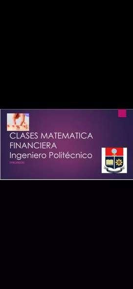 Clases y asesoría matemática financiera interés