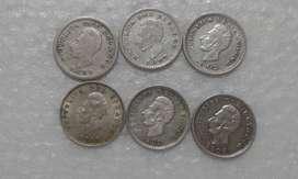 9 Monedas Decimales  Ecuador! Medio Décimo