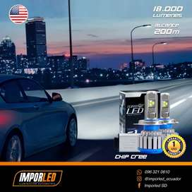 Turbo led h4 Led para carro auto luces led