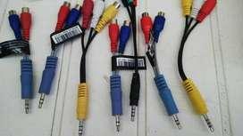 Cable Miniplug 3.5mm Macho Auxiliar A 3 Rca