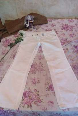 Pantalon Blanco Marca Wrangler