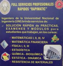 Se Resuelven al instante laboratorios de Matemáticas, Física, Química , Estadistica