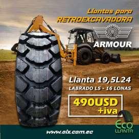 Llantas 19,5L24 16 lonas ARMOUR