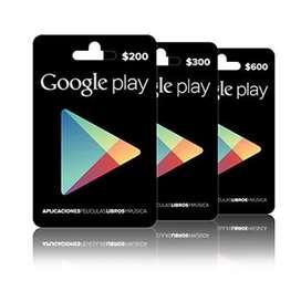 Venta de Tarjetas Google Play