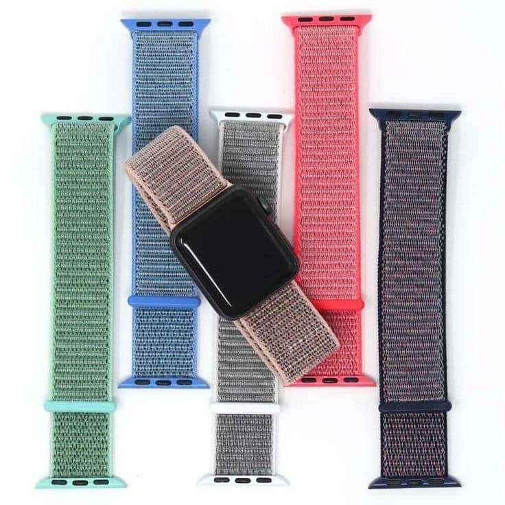 Pulso Manilla Correa De Apple Watch Colores Velcro 42/44mm 0