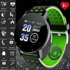 119 Plus Smart Watch reloj inteligente rastreador de ejercicios, ritmo cardíaco deportes regalo hombre mujer niño IPhone