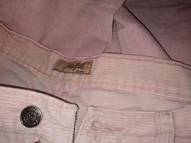 Pantalón corderoy  XL ancho tiro 21cm rosa Riffle jean
