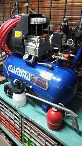 Compresor Gamma 50 Lt. + Accesorios Y Pistola Revest ( Usado en muy buenas condiciones )