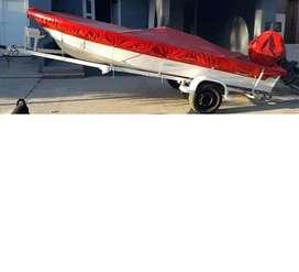Trucker Aramendi Islero 4.80 con motor Johnson 40 hp commercial, arranque electrico