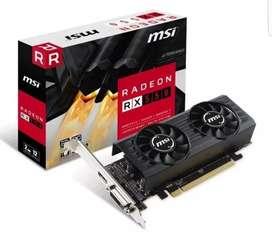 Placa de video msi rx 550 2gb