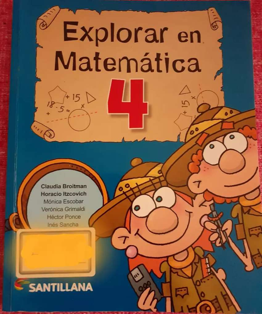 Libro 'EXPLORAR EN MATEMÁTICA 4' - Ed. Santillana OFERTA! EXCELENTE! 0