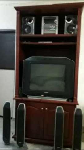 Se vende hermoso television con teatro en casa