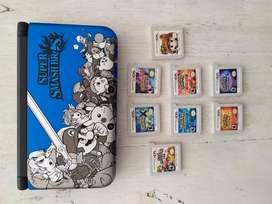 Nintendo 3ds Xl Y 8 Juegos