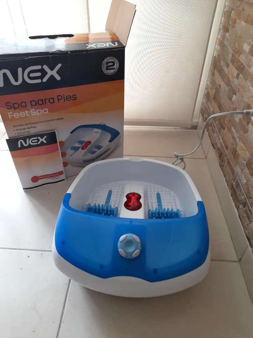 Spa para pies marca NEX, totalmente nuevo no tiene uso, conserva el calor tiene un calentador interno