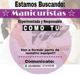 BUSCAMOS MANICURISTAS EXPERTAS