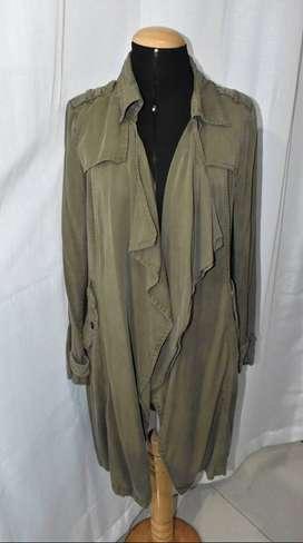 Remate Abrigo largo trench coat marca Sybilla Talla Small