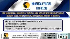 CURSO OBLIGATORIO PARA CONDUCTORES DE VEHÍCULOS DE CARGA QUE TRANSPORTEN MERCANCÍAS PELIGROSAS – RESOLUCIÓN -1223 DE