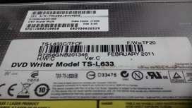 LECTOR Dvd writer modelo TSL633 Portatil Toshiba