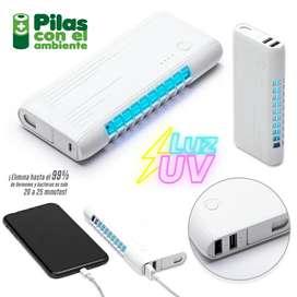 # pila recargable con luz UV 6000mAh Ref. Te-364