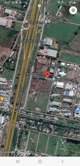 Vta importante terreno frente PARQUE INDUSTRIAL Av. Circunvalación Norte  Sup: 15.628 m2 U$S  830.000