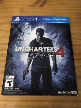 Juego uncharted 4 fisico ps4