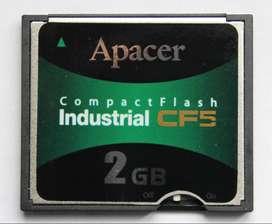 Tarjeta Memoria Compact Flash Apacer Industrial 2GB CF5