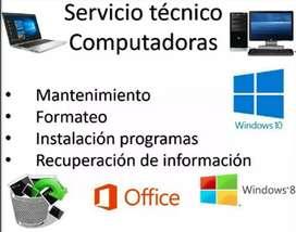 Servicio técnico especializado en computadores