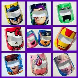 Máscaras protectoras para niños!