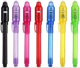 Bolígrafo invisible con luz UV