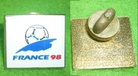 hermoso PIN DISTINTIVO LOGO DEL MUNDIAL FRANCE 98 . OFICIAL FRANCIA 1998 GRANDE