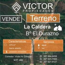 Vendo Terreno La Caldera Urbanización El Durazno