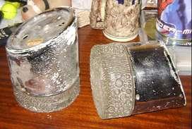 Par de Apliques Enver Diseño retro vintage vidrios esmerilados 60s