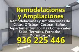 Remodelaciones y Ampliaciones de Cocinas, Baños, Departamentos, Locales, Edificios, Oficinas, Salas, Dormitorios, Casas