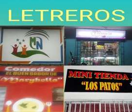 REALIZO LETREROS Y GIGANTOGRAFIAS