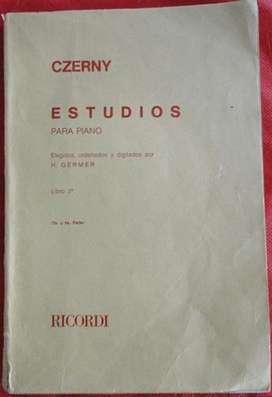 CZERNY ESTUDIOS PARA PIANO LIBRO 2  ( 3 Y 4 partes) OP.299-834  en LA CUMBRE
