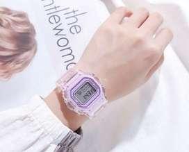 Reloj dama transparente