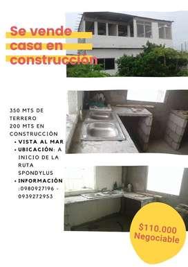 CASA EN CONSTRUCCION ,SALINAS RUTA SPONDYLUS