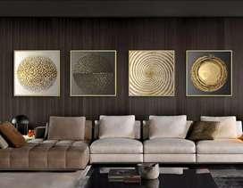 Cuadros Modernos en lienzo impreso en tela (incluye marco de madera)