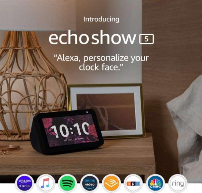 Echo Show 5 – Pantalla inteligente compacta con Alexa 0