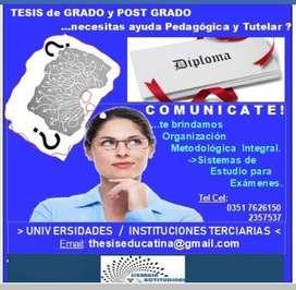 TESIS de Grado y Post Grado-  Maestrías- Doctorados