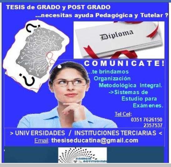 TESIS de Grado y Post Grado-  Maestrías- Doctorados 0