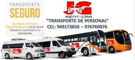 TRANSPORTE DE PERSONAL , ALQUILER DE CUSTER, ALQUILER DE CAMIONETAS 4X4
