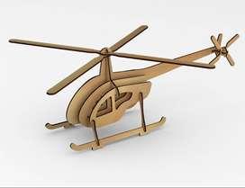 Rompecabezas de helicoptero en 3d