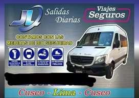 Viajes CUSCO - LIMA de LUNES a SABADO