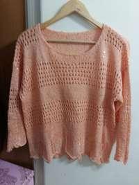 Imagen de Sweater Sweet Rosa Brillos t.M