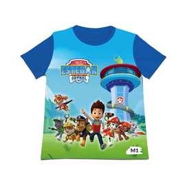 camiseta niños Paw Patrol personalizadas