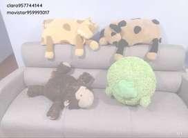 Almohadas animalitos de microfibra