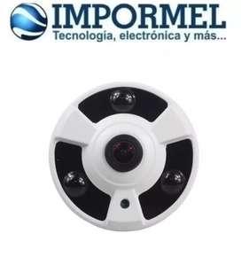 Camara De Seguridad Hd 1080p Ip Poe Onvif Ojo Pez 360 Grado