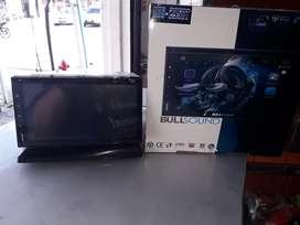 "RADIO DOBLE DIN VIDEO DVD BLUETOOTH USB  TACTIL 7"" BULLDSOUND NUEVOS"